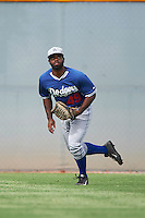 Los Angeles Dodgers Andrew Toles (49) during an instructional league game against the Cleveland Indians on October 15, 2015 at the Goodyear Ballpark Complex in Goodyear, Arizona.  (Mike Janes/Four Seam Images)