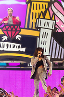 Charli XCX and David Guetta perform the show of the 2017 MTV Europe Music Awards, EMAs, at SSE Arena, Wembley, in London, Great Britain, on 12 November 2017. Photo: Hubert Boesl <br />