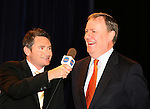 Does Peter Costello let the election date slip during this interview with Dave Hughes at the Grand Final Breakfast, Melbourne Exhibition Centre 29-9-07.