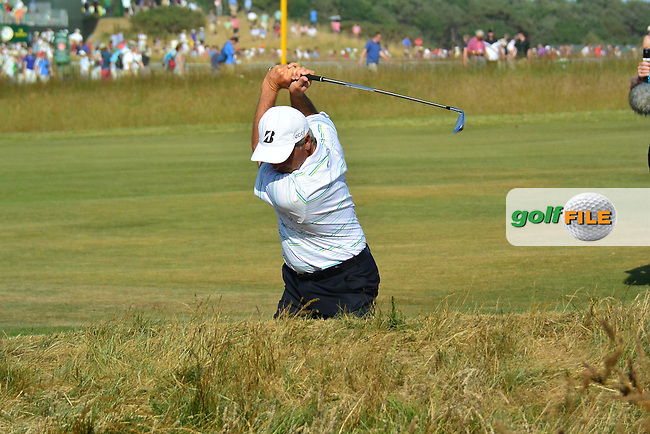 Fred COUPLES (USA) during round two of  The 142th Open Championship Muirfield, Gullane, East Lothian, Scotland 19/7/2013<br /> Picture Fran Caffrey www.golffile.ie: