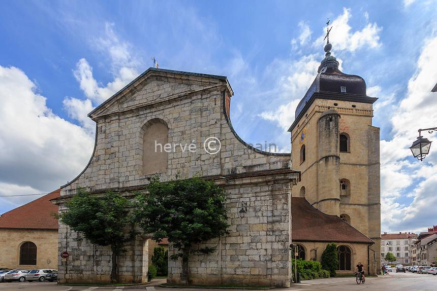 France, Franche-Comté (25), Pontarlier, église Saint-Bénigne // France, Franche Comte, Pontarlier, Saint Benigne church