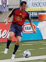 Chris Klein (17) settles the ball in the New York Red Bulls vs. Real Salt Lake 1-1 tie at Rice Eccles Stadium in Salt Lake City, Utah April 15, 2006