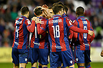 Levante UD's players celebrate goal during La Liga Second Division match. March 11,2017. (ALTERPHOTOS/Acero)