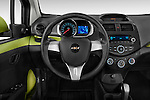 Steering wheel view of a 2013 Chevrolet Spark LS