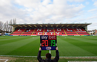 A general view of Sincil Bank, home of Lincoln City FC, prior to the first game of the new calendar year<br /> <br /> Photographer Chris Vaughan/CameraSport<br /> <br /> The EFL Sky Bet League Two - Lincoln City v Port Vale - Tuesday 1st January 2019 - Sincil Bank - Lincoln<br /> <br /> World Copyright &copy; 2019 CameraSport. All rights reserved. 43 Linden Ave. Countesthorpe. Leicester. England. LE8 5PG - Tel: +44 (0) 116 277 4147 - admin@camerasport.com - www.camerasport.com