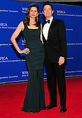 Kyle MacLachlan and Desiree Gruber arrive for the 2014 White House Correspondents Association Annual Dinner at the Washington Hilton Hotel on Saturday, May 3, 2014.<br /> Credit: Ron Sachs / CNP<br /> (RESTRICTION: NO New York or New Jersey Newspapers or newspapers within a 75 mile radius of New York City)