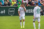 13.07.2019, Parkstadion, Zell am Ziller, AUT, FSP, Werder Bremen vs. Darmstadt 98<br /> <br /> im Bild / picture shows <br /> <br /> Benjamin Goller (Neuzugang Werder Bremen #39) LEON MÜLLER / LEON MUELLER (DARMSTADT 98 #34) auf den weg zum Tor zum 1:1<br /> <br /> Jubel<br /> Marin Pudic (Werder Bremen II #14)