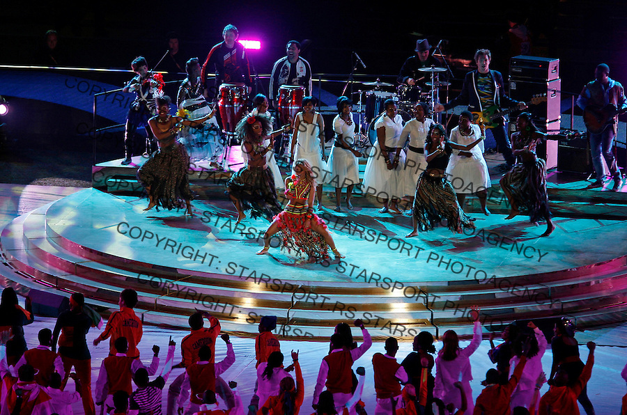 Singer Shakira performs at the closing ceremony of the  2010 FIFA World Cup - Johannesburg, South Africa, Sunday, July, 11, 2010. Final match, Netherlands vs Spain, Soccer City Stadium (credit & photo: Pedja Milosavljevic / +381 64 1260 959 / thepedja@gmail.com / STARSPORT )