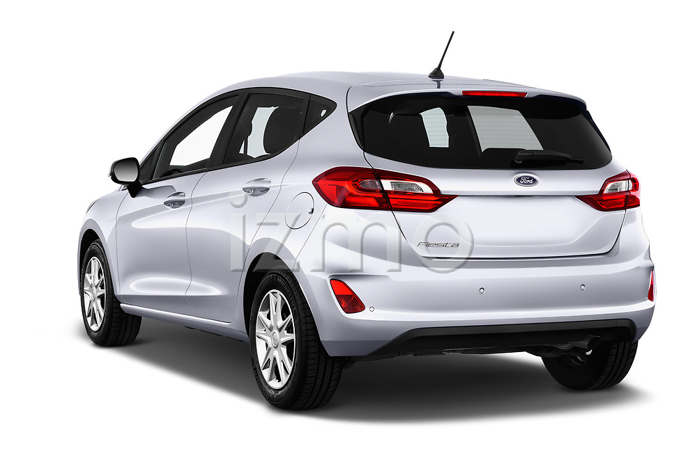 Car pictures of rear three quarter view of 2017 Ford Fiesta Business-Class 5 Door Hatchback Angular Rear