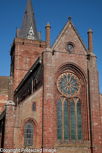 St Magnus Cathedral in Kirkwall in the Orkney Islands, Scotland