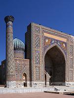 Sherdor Medrese am Registan, Samarkand, Usbekistan, Asien, UNESCO Weltkulturerbe<br /> Sherdor Madrasa at Registan Square, Samarkand, Uzbekistan, Asia, UNESCO Heritage Site