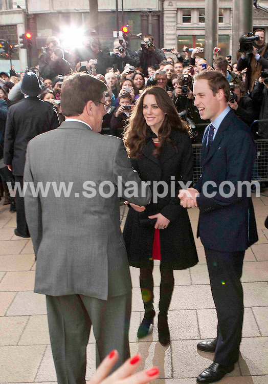 **ALL ROUND PICTURES FROM SOLARPIX.COM**                                             **NO UK NEWSPAPER PUBLICATION**.**UK MAGAZINE & SUPPLEMENT PUBLICATION ONLY** AND NO PUBLICATION IN AUSTRALIA, BELGIUM, FRANCE, GERMANY, ITALY, SCANDINAVIA AND USA**                                                                                  Caption:Prince Harry, Prince William and Kate Middleton leave the New Zealand High Commission in London this afternoon after signing the book of condolences for the victims of the recent New Zealand earthquake..                                                                               This pic:Prince William  & kate Middleton                                                                                              JOB REF: 12895       SFE       DATE: 25.02.2011                                                           **MUST CREDIT SOLARPIX.COM OR DOUBLE FEE WILL BE CHARGED**                                                                      **MUST AGREE FEE BEFORE ONLINE USAGE**                               **CALL US ON: +34 952 811 768 or LOW RATE FROM UK 0844 617 7637**