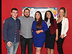 Lee McQuillan and Ashlean Burke celebrating their engagement in Garvey's with Keane McQuillan, Leanne O'Neill and Rianna Burke . Photo:Colin Bell/pressphotos.ie