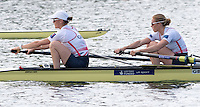 Caversham, Nr Reading, Berkshire.<br /> <br /> GBR W2-, Bow, Helen GLOVER and Heather STANNING, Olympic Rowing Team Announcement morning training before the Press conference at the RRM. Henley.<br /> <br /> Thursday  09.06.2016<br /> <br /> [Mandatory Credit: Peter SPURRIER/Intersport Images]