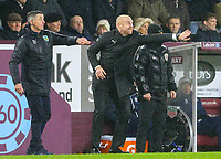 Burnley manager Sean Dyche shouts instructions to his team from the technical area<br /> <br /> Photographer Alex Dodd/CameraSport<br /> <br /> The Premier League - Burnley v Fulham - Saturday 12th January 2019 - Turf Moor - Burnley<br /> <br /> World Copyright © 2019 CameraSport. All rights reserved. 43 Linden Ave. Countesthorpe. Leicester. England. LE8 5PG - Tel: +44 (0) 116 277 4147 - admin@camerasport.com - www.camerasport.com