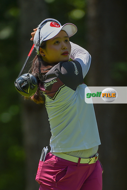 Hye-Jin Choi (KOR) watches her tee shot on 2 during round 1 of the U.S. Women's Open Championship, Shoal Creek Country Club, at Birmingham, Alabama, USA. 5/31/2018.<br /> Picture: Golffile | Ken Murray<br /> <br /> All photo usage must carry mandatory copyright credit (© Golffile | Ken Murray)