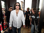 SIOUX FALLS, SD - JULY 20: KISS member Paul Stanley walks into the Brennan Rock & Roll Academy Saturday afternoon in Sioux Falls.  (Photo by Dave Eggen/Inertia)