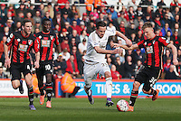 Gylfi Sigurdsson of Swansea City during the Barclays Premier League match between AFC Bournemouth and Swansea City played at The Vitality Stadium, Bournemouth on March 12th 2016