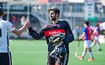 AMSTELVEEN - teleurstelling na het verlies bij keeper Matthijs Odekerken (SCHC)    de hoofdklasse competitiewedstrijd hockey heren,  Amsterdam-SCHC (3-1).  COPYRIGHT KOEN SUYK