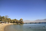 Israel, the Dolphin Reef beach in Eilat