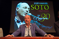 Jose Manuel Soto during the presentation of his 30th Anniversary concert. May 26, 2017. (ALTERPHOTOS/Inma Flores) /NortePhoto.com