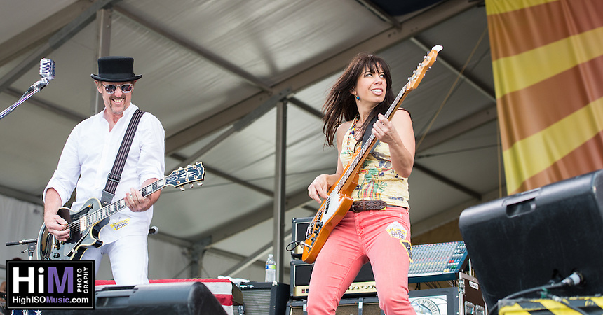 Cowboy Mouth performs at Jazz Fest 2014 on Day 5 in New Orleans, LA.