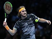 Stefanos Tsitsipas (GRE)<br /> London 14/11/2019 O2 Arena <br /> Tennis Nitto ATP Finals 2019 <br /> Photo Melanie Jeusette / Panoramic/ Insidefoto