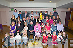 CELEBRATIONS: Celebrations were in full swing as the family of Florry and Joan Cantillon Maulin, Ballyheigue  celebrated their 50th wedding anniversary and Florry's  80th birthday in Ballyroe Heights Hotel, Tralee on Saturday night with his children and grandchildren. (Florry seated 4th from left and Joan seated 5th from right)................. . ............................... ..........