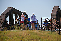 Brittany Altomare (USA) makes her way across the bridge near the tee on 2 during the round 3 of the Volunteers of America Texas Classic, the Old American Golf Club, The Colony, Texas, USA. 10/5/2019.<br /> Picture: Golffile   Ken Murray<br /> <br /> <br /> All photo usage must carry mandatory copyright credit (© Golffile   Ken Murray)