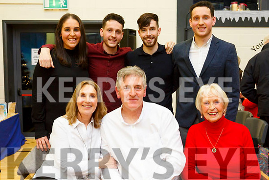 The Sweeney family with their father, Mike Sweeney, seated front centre, who retired as Principal of Scoil Naisiúnta Uaimh Bhreannain (O'Brennan National School), Kielduff. Seated l to r, Shiela & Mike Sweeney & Noreen Brady. Back l to r, Emma, Michael, Kevin and Luke Sweeney.