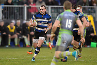 Michael van Vuuren of Bath Rugby goes on the attack. Anglo-Welsh Cup match, between Bath Rugby and Newcastle Falcons on January 27, 2018 at the Recreation Ground in Bath, England. Photo by: Patrick Khachfe / Onside Images