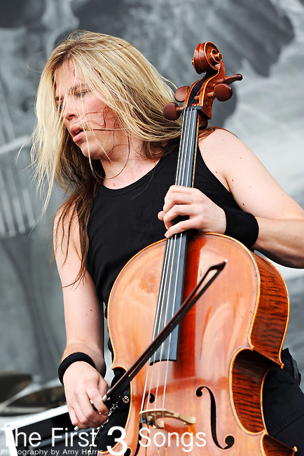 Eicca Toppinen of Apocalyptica performs during Rock on the Range in Columbus, Ohio on May 23, 2010.