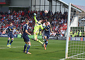 08/05/2016 Sky Bet League 1 Fleetwood Town v <br /> Crewe Alexandra<br /> Devante Cole fails to connect in front of goal