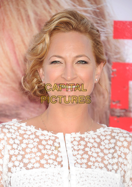 Zoe Bell<br /> at the Los Angeles Premiere of &quot;The Internship&quot; at Regency Village Theatre in Westwood, California, USA, May 29th, 2013.<br /> portrait headshot smiling  white  flowers sheer <br /> CAP/ROT/TM<br /> &copy;Tony Michaels/Roth Stock/Capital Pictures