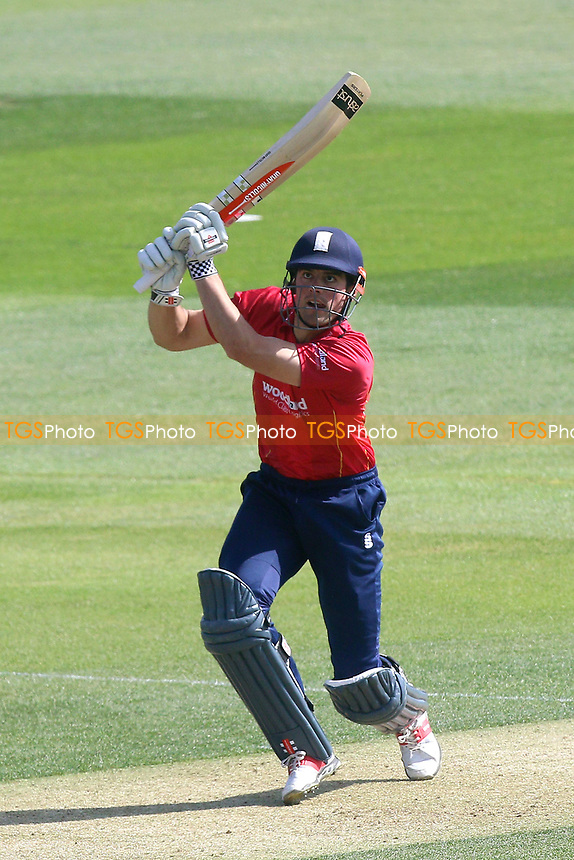 Alastair Cook hits out for Essex during Essex Eagles vs Sussex Sharks, Royal London One-Day Cup Cricket at The Cloudfm County Ground on 10th May 2017