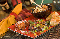 Rhumb Lines restaurant, Pou Pou platter<br /> Cruz Bay, St John<br /> U.S. Virgin Islands