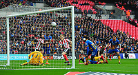 Lincoln City's Elliott Whitehouse scores the opening goal<br /> <br /> Photographer Chris Vaughan/CameraSport<br /> <br /> The EFL Checkatrade Trophy Final -  Lincoln City v Shrewsbury Town - Sunday 8th April 2018 - Wembley Stadium - London<br />  <br /> World Copyright © 2018 CameraSport. All rights reserved. 43 Linden Ave. Countesthorpe. Leicester. England. LE8 5PG - Tel: +44 (0) 116 277 4147 - admin@camerasport.com - www.camerasport.com