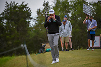 Keegan Bradley (USA) eats a sandwich as he heads down 15 during Round 2 of the Valero Texas Open, AT&T Oaks Course, TPC San Antonio, San Antonio, Texas, USA. 4/20/2018.<br /> Picture: Golffile | Ken Murray<br /> <br /> <br /> All photo usage must carry mandatory copyright credit (© Golffile | Ken Murray)