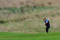 Donnchadh Crowley (Lisselan) on the 5th during the AIG Jimmy Bruen Shield Final between Lisselan &amp; Waterford in the AIG Cups &amp; Shields at Carton House on Saturday 20th September 2014.<br /> Picture:  Thos Caffrey / www.golffile.ie