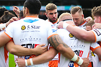 Picture by Alex Whitehead/SWpix.com - 12/05/2018 - Rugby League - Ladbrokes Challenge Cup - Castleford Tigers v St Helens - Mend-A-Hose Jungle, Castleford, England - Castleford's Mike McMeeken in the team huddle before kick off.