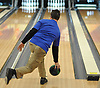 Joseph Napoli of Levittown Division rolls during a Nassau County boys bowling match against Bellmore-Merrick at Levittown Lanes on Thursday, Nov. 30, 2017. He bowled a 191 and 193 in two games to help his team to an 8-3 win.