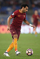 Calcio, Serie A: Roma vs Inter. Roma, stadio Olimpico, 2 ottobre 2016.<br /> Roma&rsquo;s Mohamed Salah in action during the Italian Serie A football match between Roma and FC Inter at Rome's Olympic stadium, 2 October 2016.<br /> UPDATE IMAGES PRESS/Isabella Bonotto