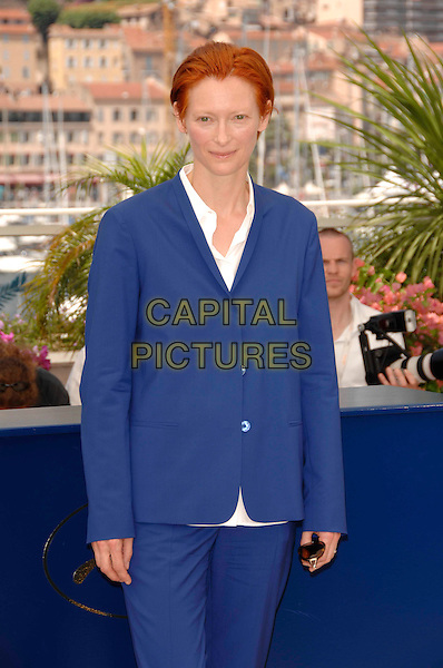 "TILDA SWINTON.""The Man From London"" Photocall during the 60th International Film Festival, Cannes, France,.23rd May 2007.half length blue trouser suit jacket white shirt.CAP/PL.©Phil Loftus/Capital Pictures"