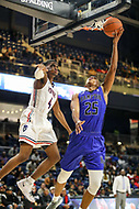 Washington, DC - December 22, 2018: Hampton Pirates guard Akim Mitchell (25) makes a shot during the DC Hoops Fest between Hampton and Howard at  Entertainment and Sports Arena in Washington, DC.   (Photo by Elliott Brown/Media Images International)