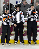 Tim Benedetto, Chris Federico, Tim Low - The Boston College Eagles defeated the visiting Northeastern University Huskies 7-1 on Friday, March 9, 2007, to win their Hockey East quarterfinals matchup in two games at Conte Forum in Chestnut Hill, Massachusetts.