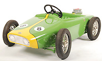 BNPS.co.uk (01202 558833)<br /> Pic: EastBristolAuctions/BNPS<br /> <br /> £2,000 - A rare original vintage 1960's Morellet & Guerineau made child's ' Lotus ' pedal car.<br />   <br /> Toy story...<br /> <br /> A remarkable lifetime collection of 30 vintage toy cars has emerged for sale for more than £65,000.<br /> <br /> The fleet of rare pedal cars were acquired over almost half a century by retired car garage owner David Worrow, 72.<br /> <br /> During their time with Mr Worrow they formed what was believed to be the biggest private collection of its kind in the world.