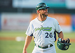 30 July 2016: Vermont Lake Monsters Manager Aaron Nieckula coaches third base during a game against the Brooklyn Cyclones at Centennial Field in Burlington, Vermont. The Lake Monsters defeated the Cyclones 7-1 in NY Penn League play. Mandatory Credit: Ed Wolfstein Photo *** RAW (NEF) Image File Available ***