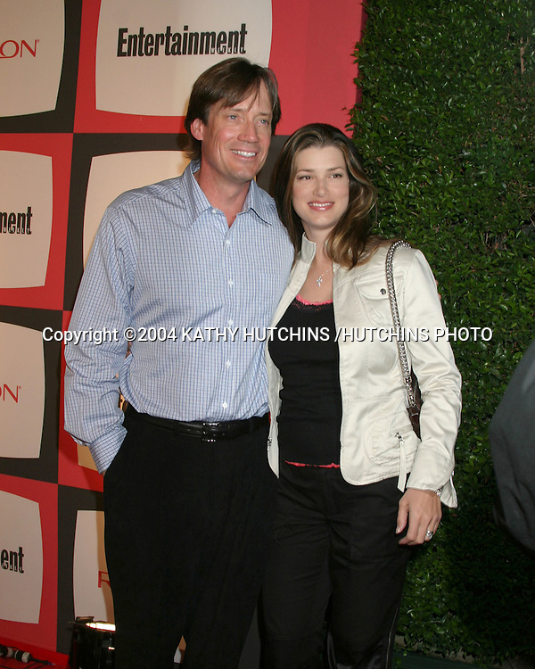 ©2004 KATHY HUTCHINS /HUTCHINS PHOTO.EMMY NOMINEE RECEPTION.ENTERTAINMENT WEEKLY PRE EMMY PARTY.SEPTEMBER 18, 2004..KEVIN SORBO. WIFE SAM