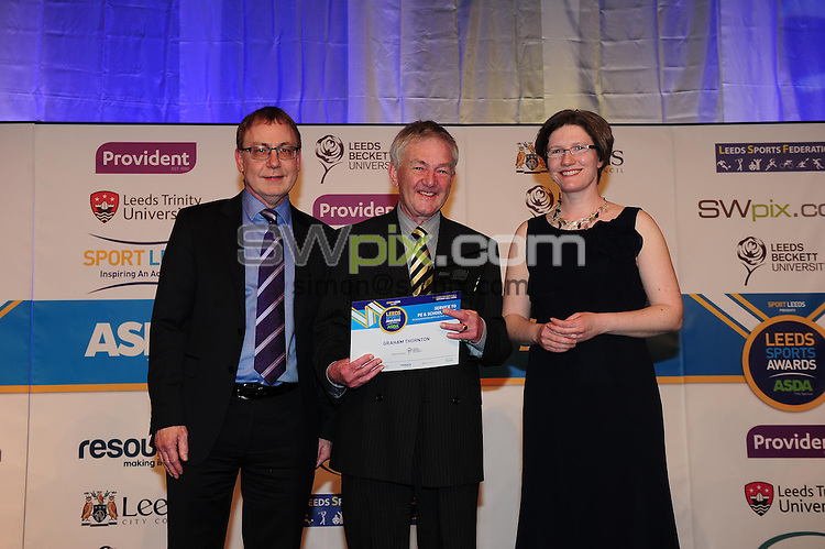 Picture by Simon Wilkinson/SWpix.com - 05/03/2015 - Leeds Sports Awards 2015<br /> New Dock Yard Leeds<br /> copyright picture - Simon Wilkinson- simon@swpix.com