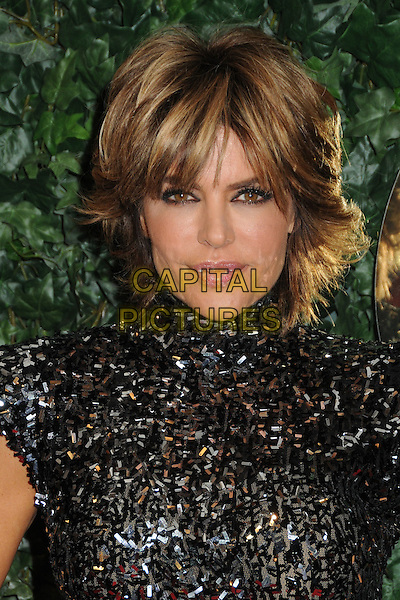 LISA RINNA.QVC Red Carpet Style Party held at the Four Seasons Hotel, Beverly Hills, California, USA..February 25th, 2011.headshot portrait black sequins sequined high collar sleeveless .CAP/ADM/BP.©Byron Purvis/AdMedia/Capital Pictures.